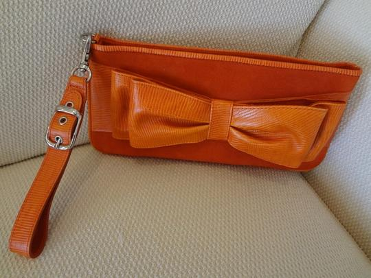 Isabella Fiore Bow Orange Clutch