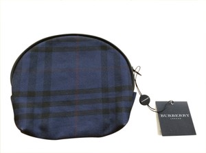 Burberry New With Tags Authentic Burberry Cosmetic Makeup Case Navy Novacheck Pattern