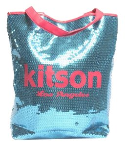 Kitson Sequin Tote in blue /pink
