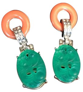 Kenneth Jay Lane Art Deco drop vintage Kenneth Lane earrings
