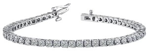 Avi and Co 3.00 cttw Round Brilliant Cut Diamond Tennis Bracelet 14K White Gold