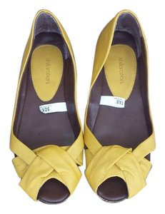 Xhilaration mustard yellow Flats