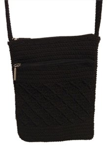 New Small Crochet Black Bag Little Cross Body Bag
