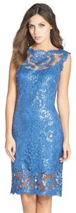 Tadashi Shoji Sequin Lace Party Night Out Wedding Dress