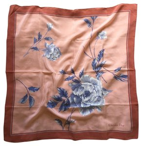 Dior Christian Dior 100% Silk Floral Scarf Made in France