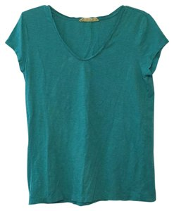 Ann Taylor LOFT T Shirt Sunwashed Blue-Green