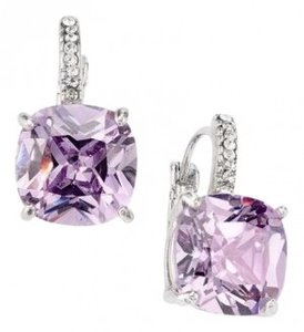 City by City Faux Amyethst & Diamond Earring