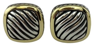 David Yurman David Yurman Sterling Silver 18k Gold Carved Cable Albion Earrings