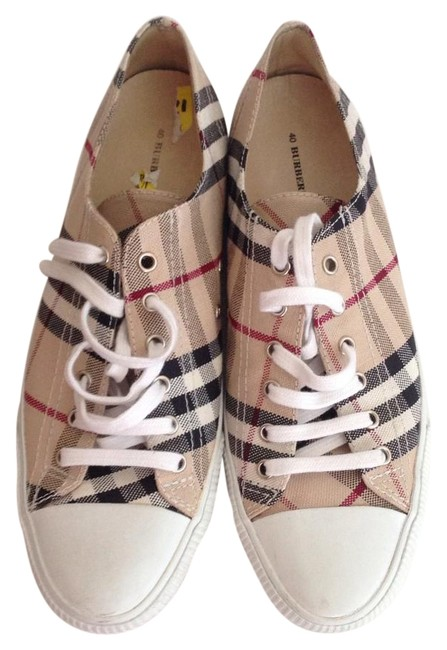 Item - Beige Check Trainers Sneakers Size US 9.5 Regular (M, B)