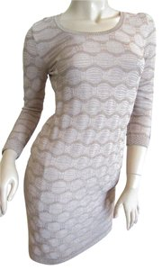 Missoni short dress Beige, Gold on Tradesy