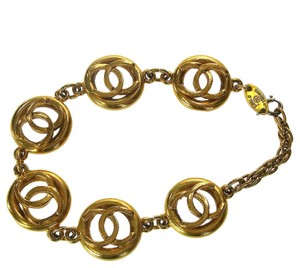 Chanel Authentic CHANEL CC Gold Bracelet