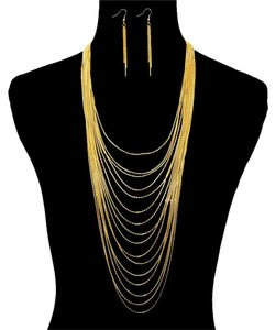 Color - Layered Chain Necklace Set