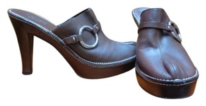 Coach Heels Brown Mules