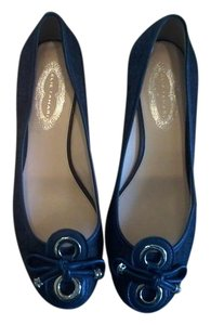 Elie Tahari Navy Wedges