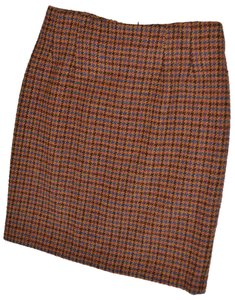 Ann Taylor Lined Skirt houndstooth plaid