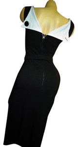 Bettie Paige 50's Rockabilly Pinup Bodycon Housewife Dress