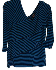 Vince Camuto Top Blue, black