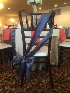 Grey/pewter Chair Sashes