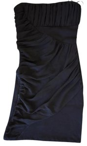 Zara Lbd Strapless Chiffon Machine Washable Classic Dress