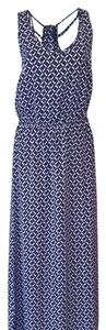 White/Navy Maxi Dress by Banana Republic
