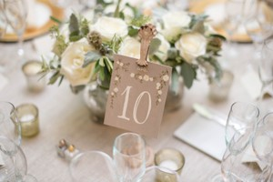 BHLDN Gray Cream Aster Table Number Cards 1-15 Reception Decoration