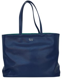 Prada Big Tote in Bluette Azzenzi