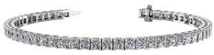 Avi and Co 5.00 cttw Princess Cut Diamond Prong Set Tennis Bracelet 14K White Gold