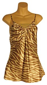 Adrienne Vittadini Animal Print Silk Tunic