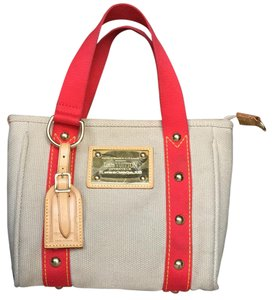 Louis Vuitton Tote in Tan & Red