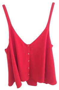 Zara Blouse Flowy Top Red