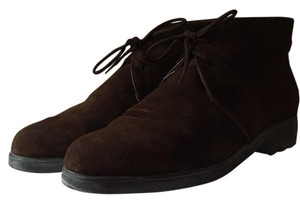 Salvatore Ferragamo Brown Suede Desert Dark brown Boots