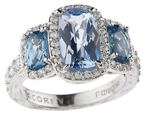 Tacori IV Tacori IV Diamonique Epiphany Three Stone Sterling Silver Ring - Size 10