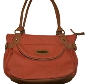 Koltov Collections Satchel in Soft Peachy with tan trim