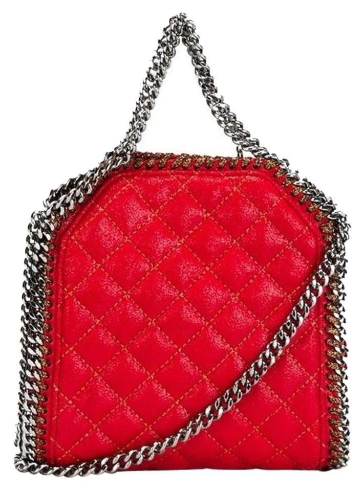 Stella McCartney Mini Quited Falabella Red Faux Leather Cross Body ... : stella mccartney quilted bag - Adamdwight.com