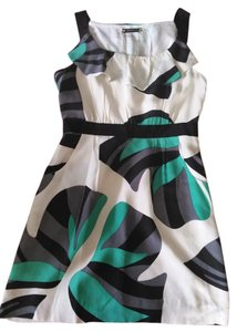 Leifsdottir short dress White, black, teal (Circus but) on Tradesy