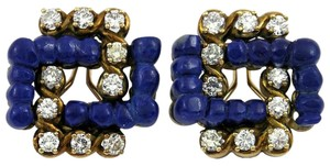 Other Lapis Diamond Gold Earrings