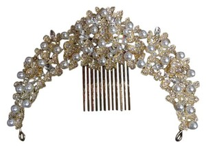 Other Gold wedding hair comb