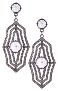 Jessica Simpson Jessica Simpson Statement Hematite Plated Crystal Drop Earrings