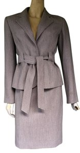 Isabel & Nina ISABEL & NINA Beige Herringbone Career Skirt Suit 6