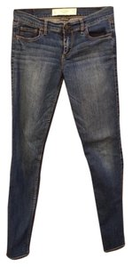 Abercrombie & Fitch Perfect Stretch Classic 5 Pocket Size 4 Long Length Skinny Jeans-Medium Wash
