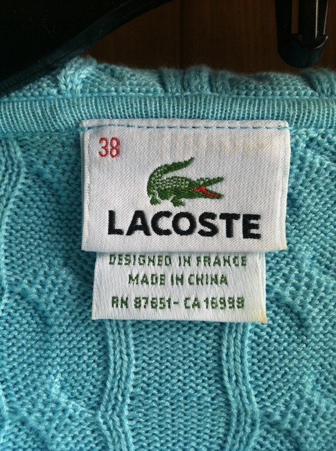 Lacoste Hoodie Logo Long Sleeve Zippered Cable Knit Cardigan