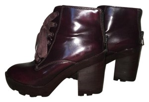 ALDO Chunky Boot Burgundy Boots