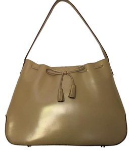 Anya Hindmarch Leather Attached Zip Pouch Dust Magnetic Closure Ah Signature Bow Hobo Bag