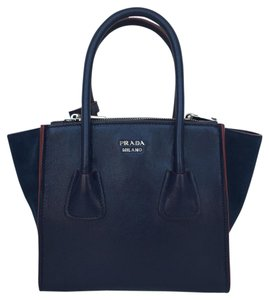 Prada Satchel in Baltico Navy