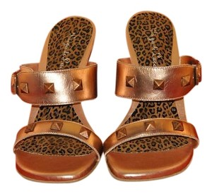 Diego di Lucca Studded Copper Metallic Wedges