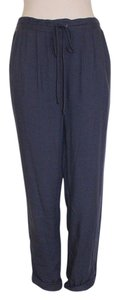Anthropologie Crop Relaxed Pants BLUE