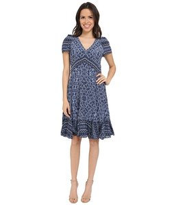 Rebecca Taylor Paisley V-neck Vneck Floral Dress