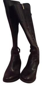 Enzo Angiolini Black and dark brown Boots