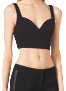 Michael Kors Halter Crop Halter Designer Top Black