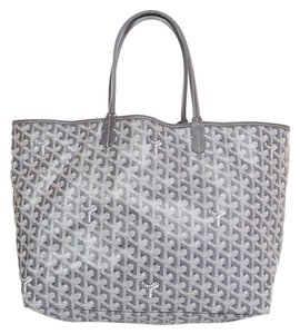 Goyard Chevron Canvas Tote in Grey